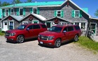 The Chevrolet Tahoe on the left and the Chevrolet Suburban on the right: Full-size SUVs still remain useful vehicles for some buyers.