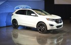 The 2015 Ford Edge Sport showcased at a special Ford presentation.