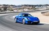 The Cayman GTS enjoying some high-speed turns on the Laguna Seca circuit.