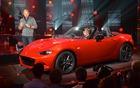 Derek Jenkins, Director of Design, presenting the new 2016 Mazda MX-5.