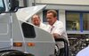 Arnold looks at his then-new Unimog