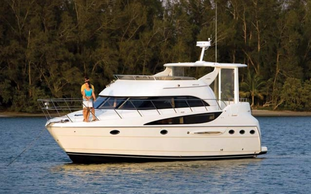 Step aboard the 408 and you'll find that a midsize yacht can indeed be your ...