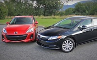 Comparatif Mazda3 vs Honda Civic 2013