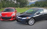 Comparison Review 2013 Mazda3 vs Honda Civic
